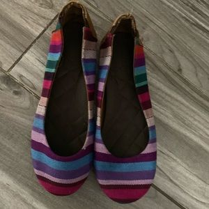 Reef Girls multi colored slip on flats